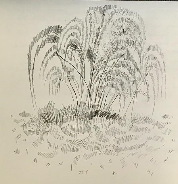 Tegning, Annette Hoff-Jessen, Atelier-Kaiserborgen.