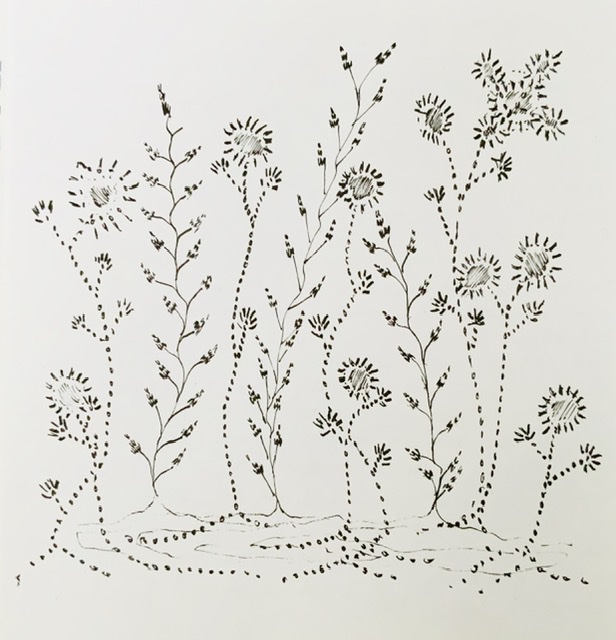 Annette Hoff-Jessen. Tegning. Atelier-Kaiserborgen