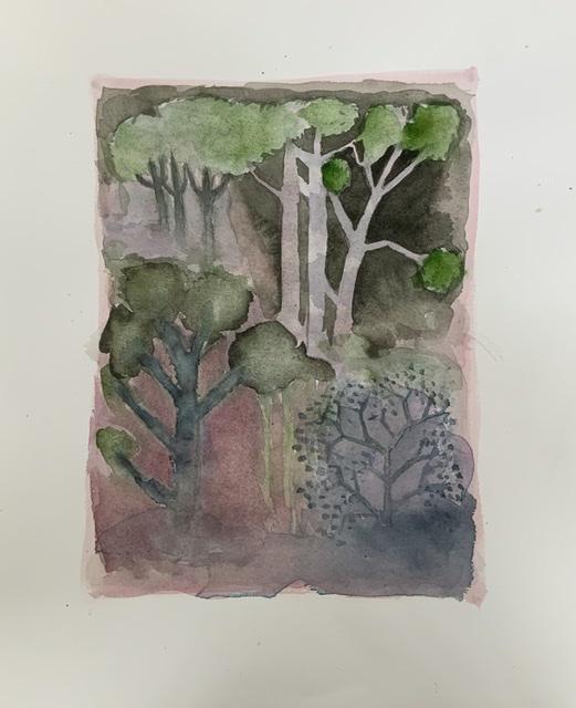 Annette Hoff-Jessen. Akvarel. Atelier-Kaiserborgen