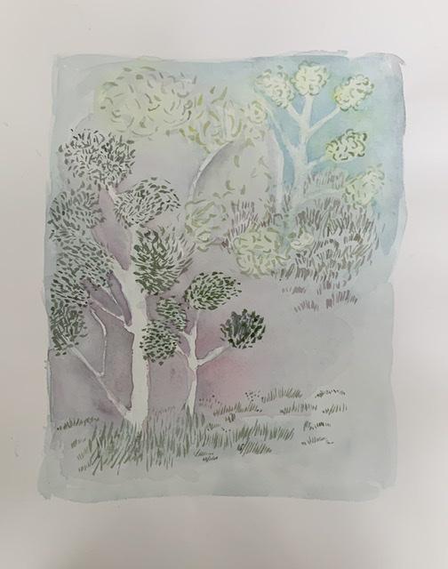 Annette Hoff-Jessen. Akvarel. Atelier-Kaiserborgen.