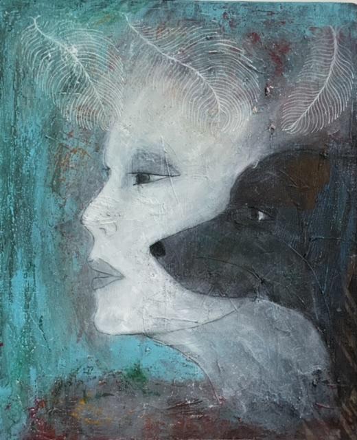 Annette Hoff-Jessen, maleri, Atelier-Kaiserborgen