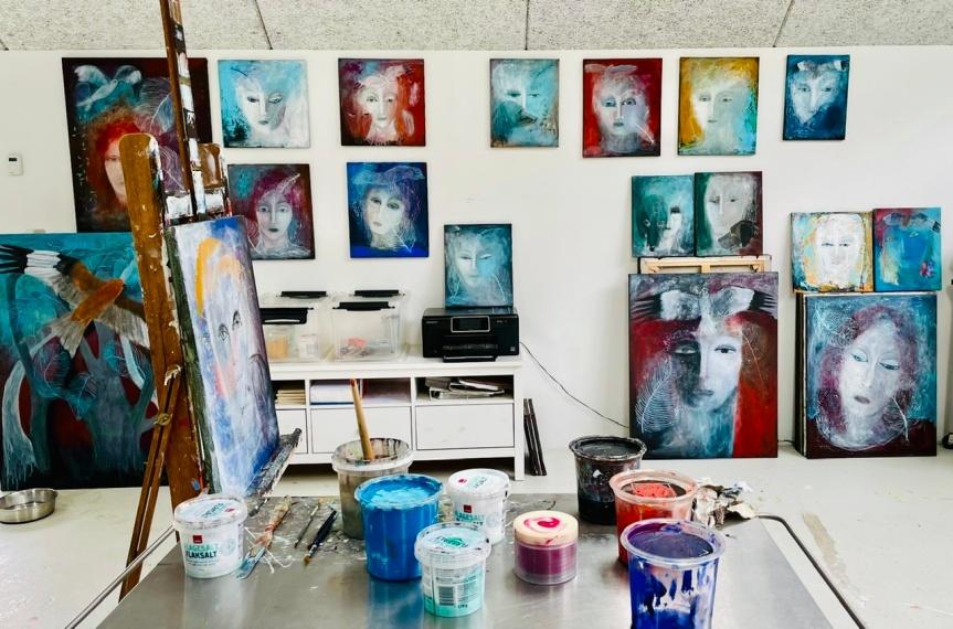 Annette Hoff-Jessen,maleri,Atelier-Kaiserborgen