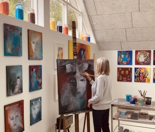 Annette Hoff-Jessen, atelier, maleri, Atelier-Kaiserborgen